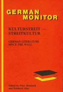 Book Cover: Kulturstreit - Streitkultur: German Literature since the Wall